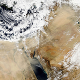 Satellite View of the Eastern Mediterranean Photographic Print by  Stocktrek Images