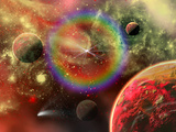 Artist's Concept Illustrating the Cosmic Beauty of the Universe Photographic Print by  Stocktrek Images
