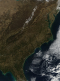 Satellite View of the Southeastern United States Photographic Print by  Stocktrek Images