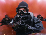 Navy Divers on a Training Reconnaissance Exercise Photographic Print by  Stocktrek Images