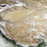 Satellite View of the Tibetan Plateau Photographic Print by  Stocktrek Images