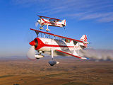 Two Pitts Model 12 Aircraft in Flight Photographic Print by  Stocktrek Images