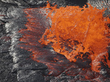 Lava Bursting at Edge of Active Lava Lake, Erta Ale Volcano, Danakil Depression, Ethiopia Photographic Print by  Stocktrek Images