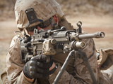 A Squad Automatic Weapon Gunner Provides Security Photographic Print by  Stocktrek Images