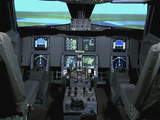 Interior View of an Aircraft Flight Simulator Photographic Print by  Stocktrek Images