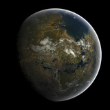 Artist's Concept of a Terraformed Mars Papier Photo par  Stocktrek Images