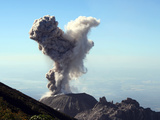 Eruption of Ash Cloud from Santiaguito Dome Complex, Santa Maria Volcano, Guatemala Photographic Print by  Stocktrek Images
