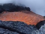 Lava Flowing into Sea, Kilauea Volcano, Big Island, Hawaii Photographic Print by  Stocktrek Images