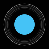 An Illustration Showing the Details of the Rings of Uranus Photographic Print by  Stocktrek Images