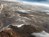 A Flooded Aram Chaos Region on the Planet Mars Photographic Print by  Stocktrek Images