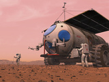 Artist's Concept of How a Martian Motorhome Might Be Realized Photographic Print by  Stocktrek Images