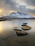 Novatinden Mountain and Skoddeberg Lake in Troms County, Norway Photographic Print by  Stocktrek Images