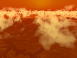 Artist's Concept of Methane Clouds over Titan's South Pole Photographic Print by  Stocktrek Images