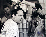 Ken Regan Autographed Yogi Berra Champagne Celebration B&amp;W Horizontal Photograph Photographie