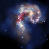 The Antennae Galaxies Photographic Print by  Stocktrek Images