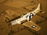 A North American P-51D Mustang in Flight Photographic Print by  Stocktrek Images