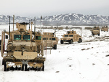 A Convoy of Vehicles During a Route Clearing Procedure in Afghanistan Photographic Print by  Stocktrek Images