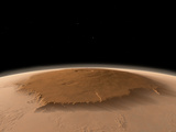 Artist's Concept of the Northwest Side of the Olympus Mons Volcano on Mars Photographic Print by  Stocktrek Images