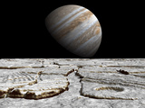 Artist&#39;s Concept of Jupiter as Seen across the Icy Surface of its Moon Europa Photographic Print by  Stocktrek Images