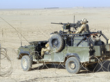 Gurkhas Patrol Afghanistan in a Land Rover Photographic Print by  Stocktrek Images
