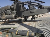 An AGM-114 Hellfire Missile Is Ready to Be Loaded onto an AH-64 Apache Photographie par  Stocktrek Images