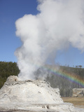 Castle Geyser Eruption, Upper Geyser Basin Geothermal Area, Yellowstone National Park, Wyoming Photographic Print by  Stocktrek Images