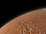 Mars' Valles Marineris Is Host to the Largest Canyons in the Solar System Photographic Print by  Stocktrek Images