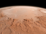 Illustration of the Argyre Impact Basin in the Southern Highlands of Mars Photographic Print by  Stocktrek Images