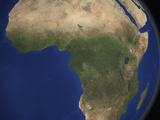 Earth Showing Landcover over Africa Photographic Print by  Stocktrek Images