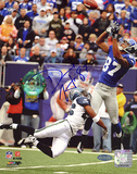Domenik Hixon Autographed Catch vs. Seattle Photograph Photo