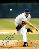 Aaron Heilman Autographed NY Mets Pitching Vertical Photograph Fotografa