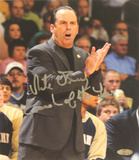 "Mike Brey Autographed ""Coach of the Year"" Yelling At The Sidelines Signed Vertical Photo by Photogr Photo"