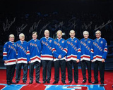 New York Rangers 8 Legends Multi Autographed Horizontal Photograph - LE Of 500 Photographie