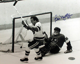 Bob Nystrom Autographed Game Winning Goal Celebration Photograph Photographie
