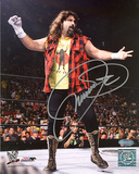 Mick Foley Autographed Mankind Sock On Hand Photograph Fotografía