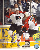 Jeremy Roenick Autographed Game Winning Goal Celebration Vertical Photo Photo