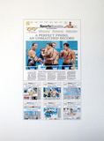 Michael Phelps Autographed New York Times Exclusive Collage Photo