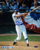 Cleon Jones Autographed New York Mets Swing Vertical Photograph Foto