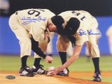 Whitey Ford/Don Larsen Yankee Stadium Final Game Scooping Dirt Horizontal Photo Photo