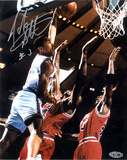 John Starks Autographed Close up Dunk Foto