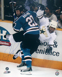 Jeremy Roenick Autographed Checking Stephane Robidas Vertical Photograph Foto