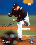 Billy Wagner Autographed Away Pitching vs. Atlanta Photograph Photo
