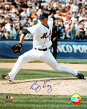 Billy Wagner Autographed Vertical Pitching Photograph Photo