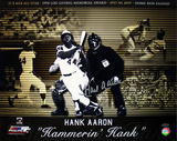 Hank Aaron Autographed &#39;Hammerin Hank&#39; Photo Collage Photo