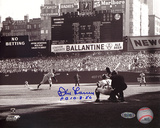 Don Larsen Autographed 'PG 10-8-56' First Pitch Photograph Photo