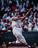Carl Yastrzemski Autographed &quot;TC 67&quot; Swing Vertical Photograph - Signed By Photographer Ken Regan Photographie