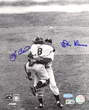 Yogi Berra &amp; Don Larsen Dual Autographed Hug Photograph Photo