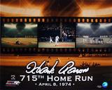 Hank Aaron Autographed 715th HR Color Photograph Photographie