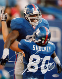 Jeremy Shockey Celebrating with Tiki Autographed Photo (Hand Signed Collectable) Photo