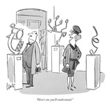 """Here's one you'll understand."" - New Yorker Cartoon Premium Giclee Print by Claude Smith"